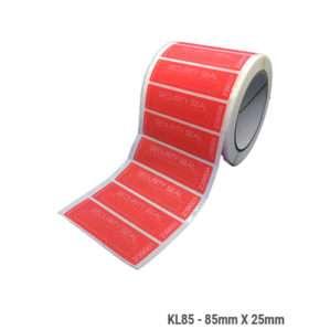 KL85---red-laminating-label-reel